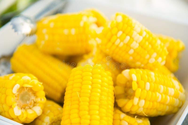 słodka kukurydza wyparzonych obraz royalty free