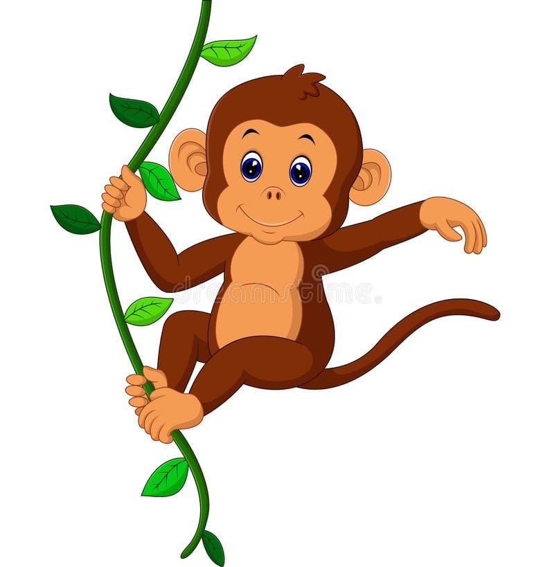 słodka małpka royalty ilustracja