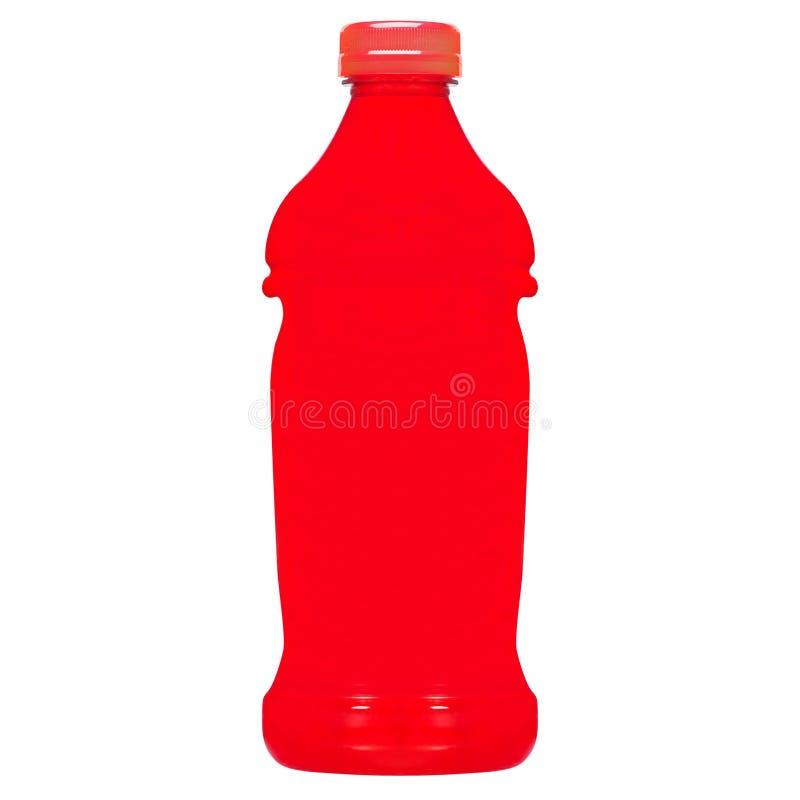 Słodka miękkiego napoju butelka na bielu zdjęcia stock