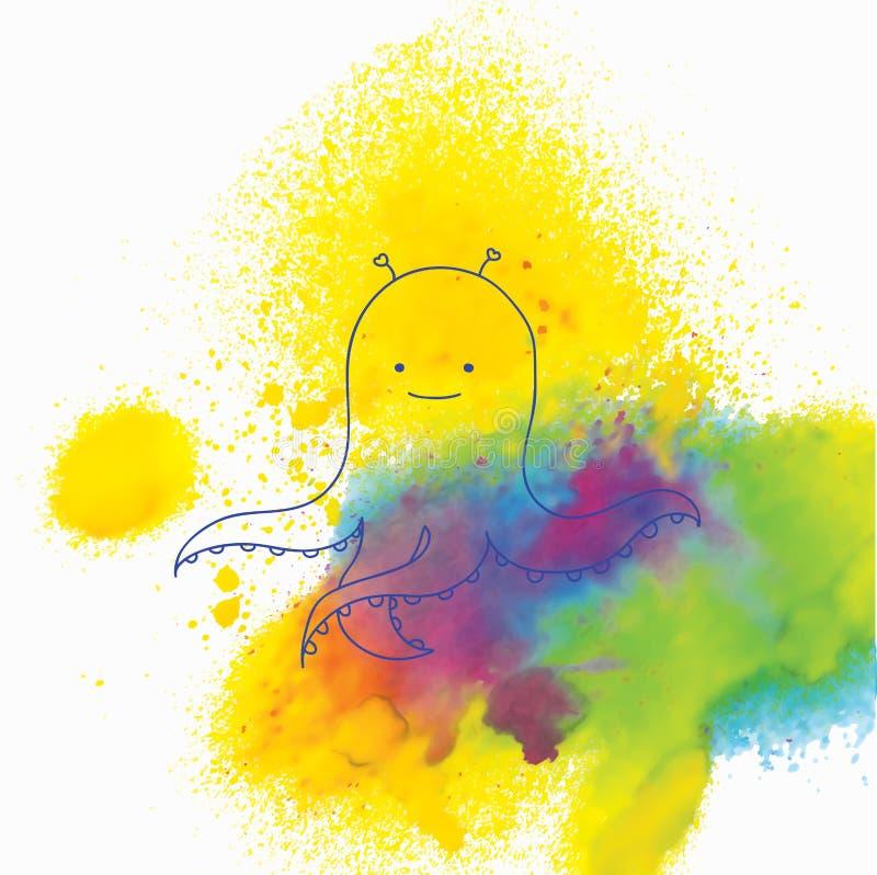 słodka ośmiornica ilustracja wektor