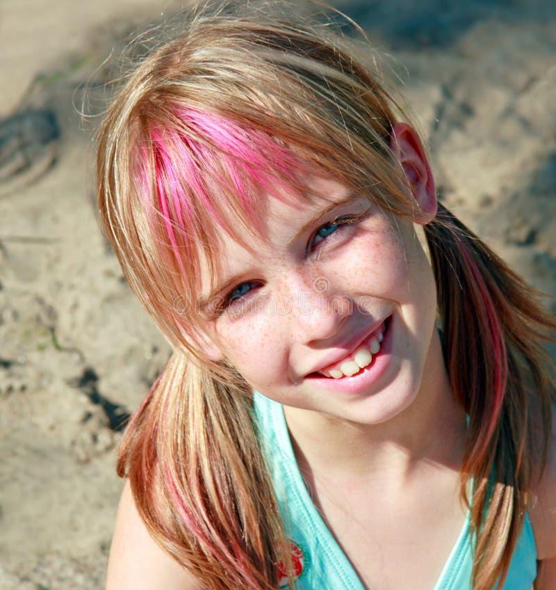 słodka oko blond niebieska dziewczyna zdjęcie stock