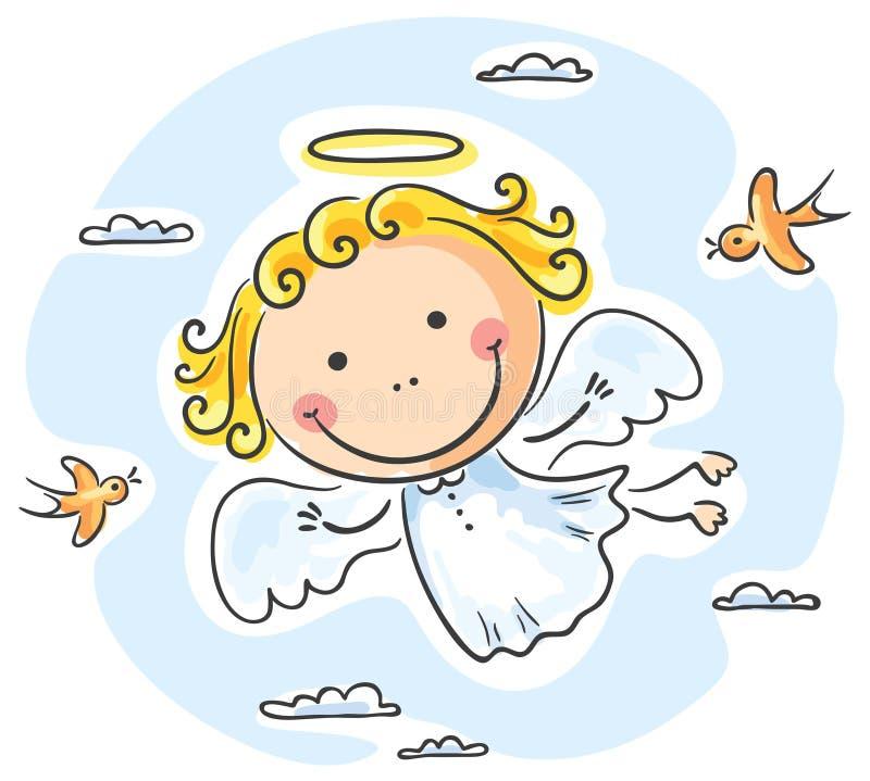 słodki anioł ilustracja wektor