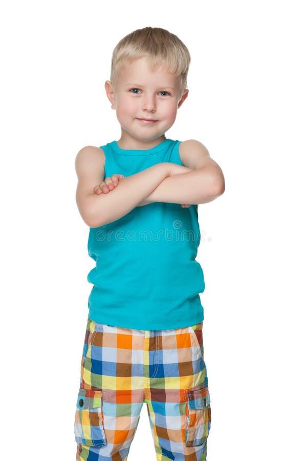 Download Słodki chłopiec szczęśliwy obraz stock. Obraz złożonej z pojedynczy - 41951363