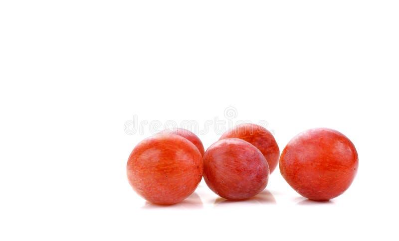 Słodki czerwony jabłko odizolowywający na białym tle zdjęcia stock
