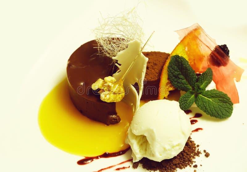 Słodki deser z lody zdjęcie royalty free