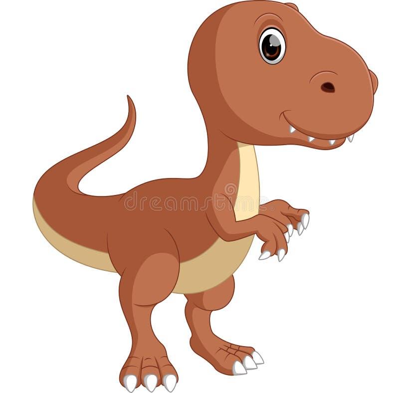 słodki dinozaur royalty ilustracja
