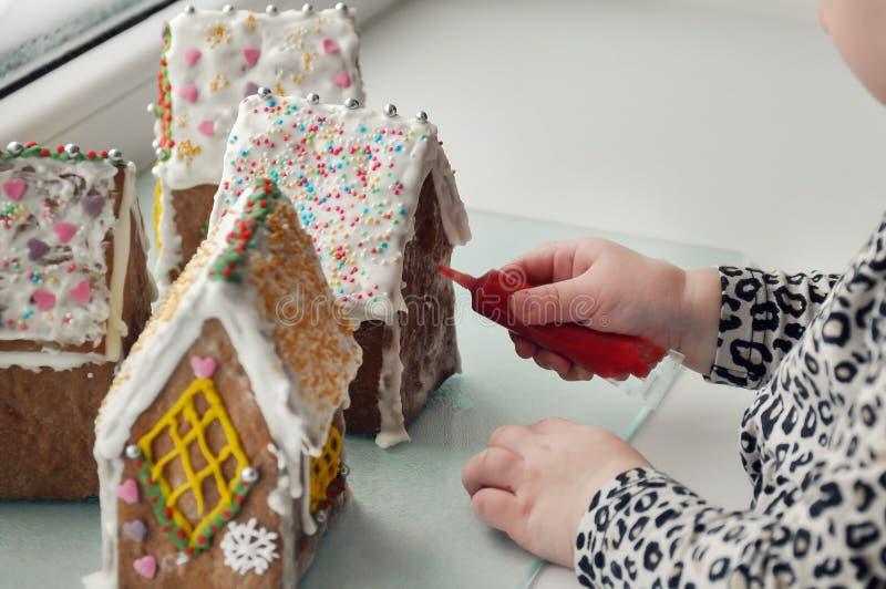Słodki imbiru dom zdjęcie stock