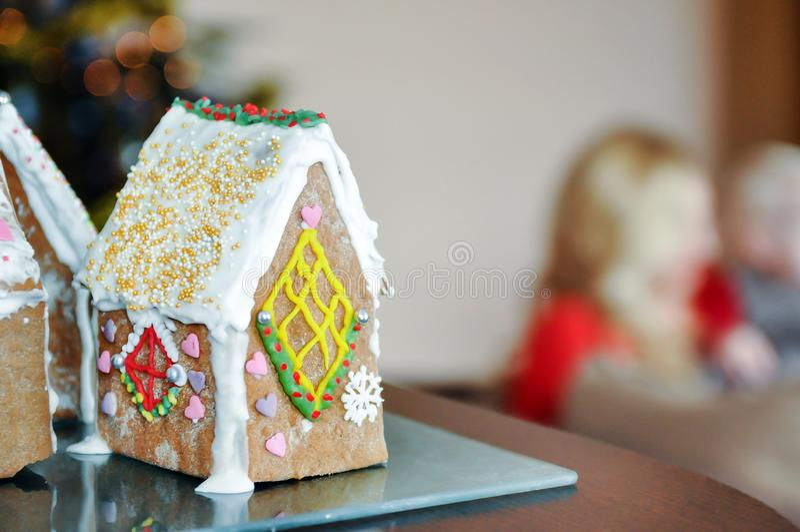 Słodki imbiru dom obrazy stock