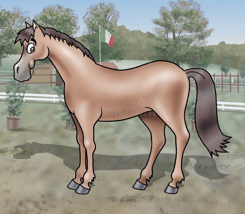 słodki konia royalty ilustracja