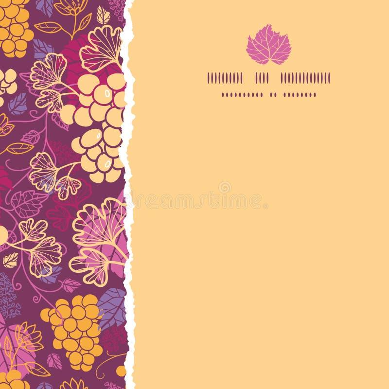 Słodki kwadrat drzejący gronowych winogradów rabatowy bezszwowy royalty ilustracja