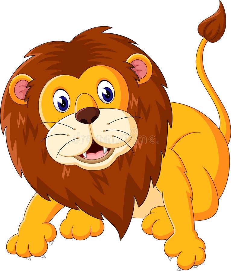 słodki lew ilustracji