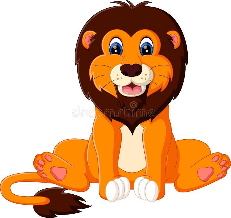 słodki lew ilustracja wektor