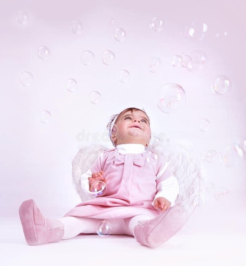 Słodki mały anioł obraz stock