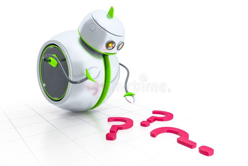 Słodki mały robot ilustracja wektor