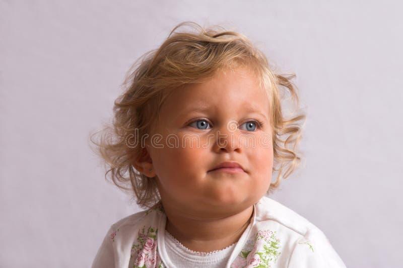 słodki mały stary dwa lata zdjęcie royalty free