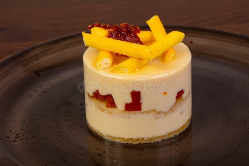 Słodki Mangowy mousse zdjęcie royalty free