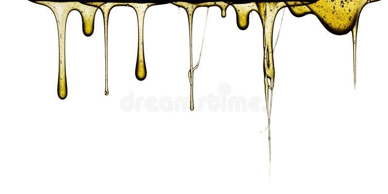 Słodki miodowy obcieknięcie zdjęcie stock