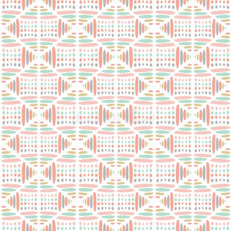 Słodki pastelowy abstrakcjonistyczny wektorowy bezszwowy wzór Nowożytny elegancki tekstura ideał dla dzieci Wielostrzałowe g ilustracja wektor