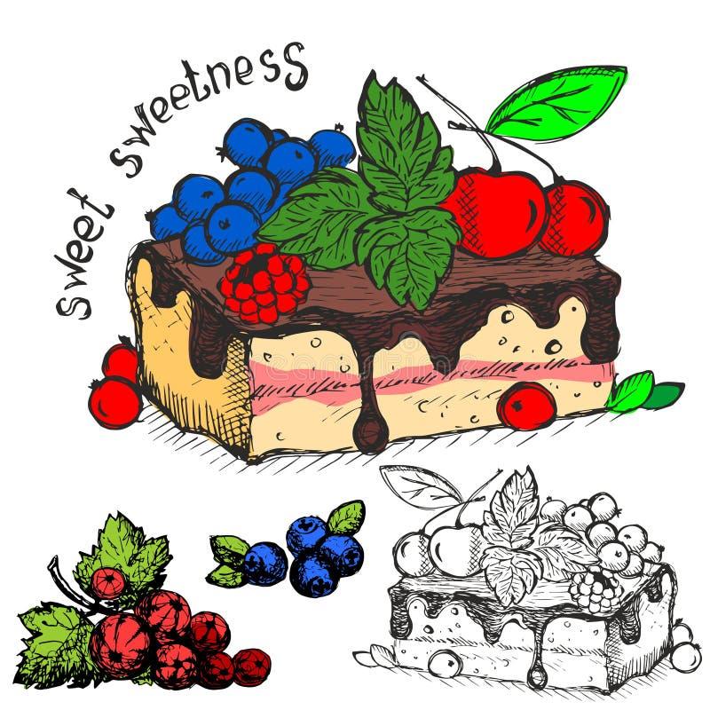 Słodki słodkość projekt ilustracji