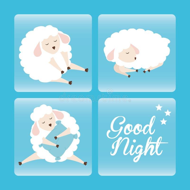 Słodkich sen projekt ilustracja wektor