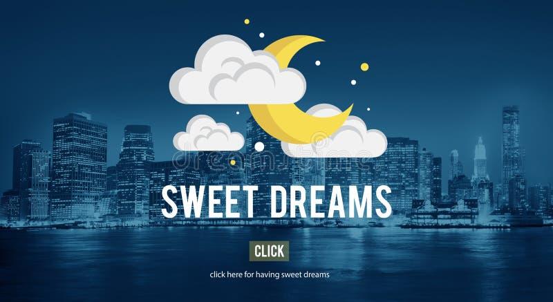 Słodkich sen relaksu Szczęśliwy Pozytywny pojęcie zdjęcia stock