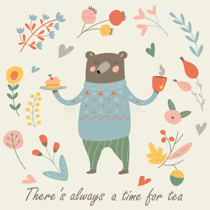 słodkie bear royalty ilustracja