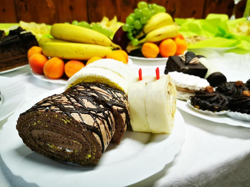 słodkie desery czeskie zdjęcia stock
