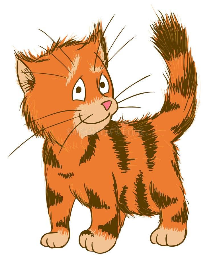 słodkie ginger kota ector ilustracja zwierzęta domowe ilustracji