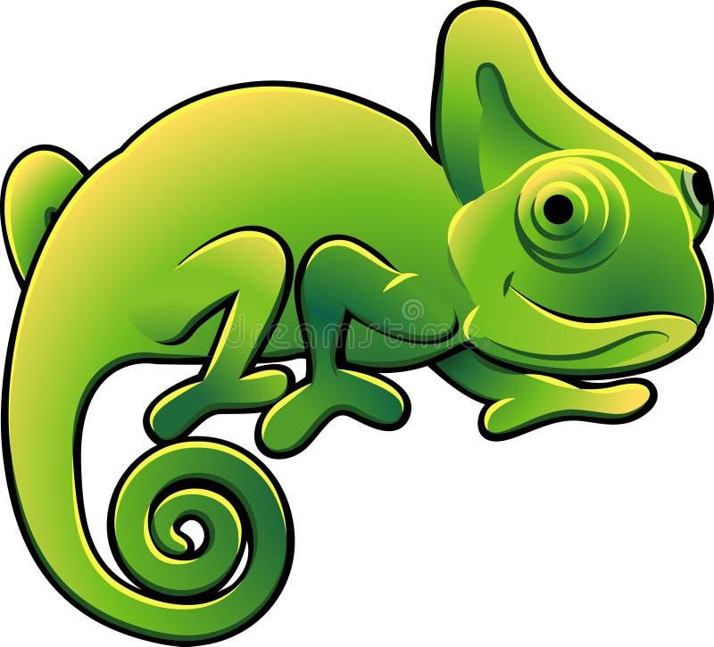 słodkie illustra kameleona wektora