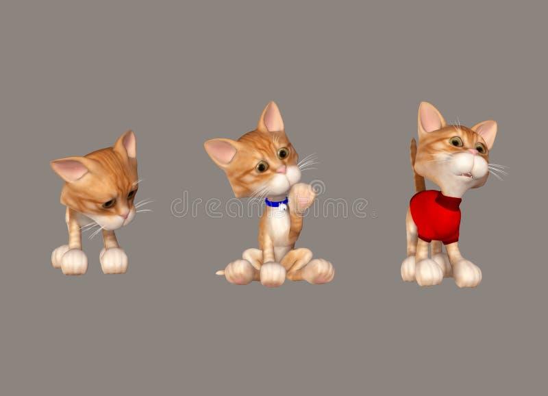 słodkie koty ilustracja wektor
