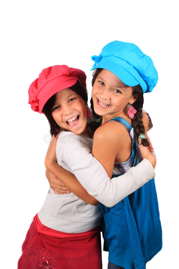 słodkie małe siostry zdjęcie royalty free