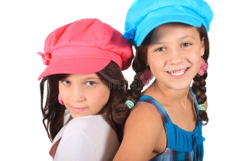 słodkie małe siostry fotografia stock