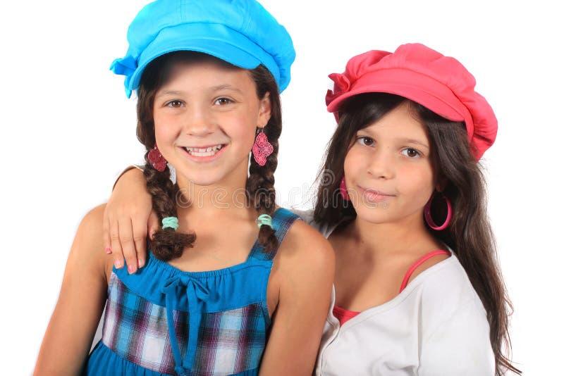 słodkie małe siostry fotografia royalty free