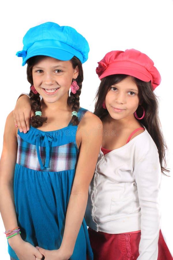 słodkie małe siostry obraz stock