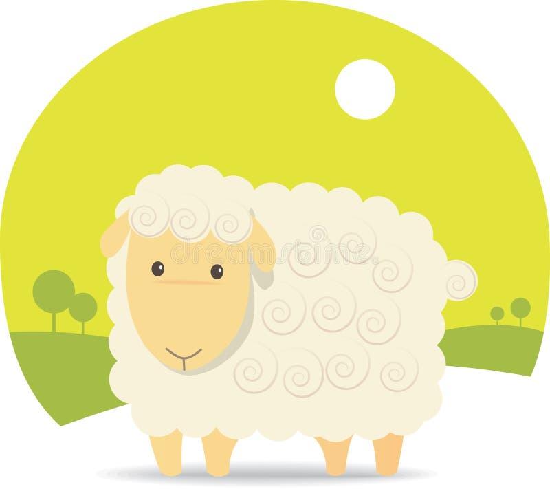 słodkie owce royalty ilustracja