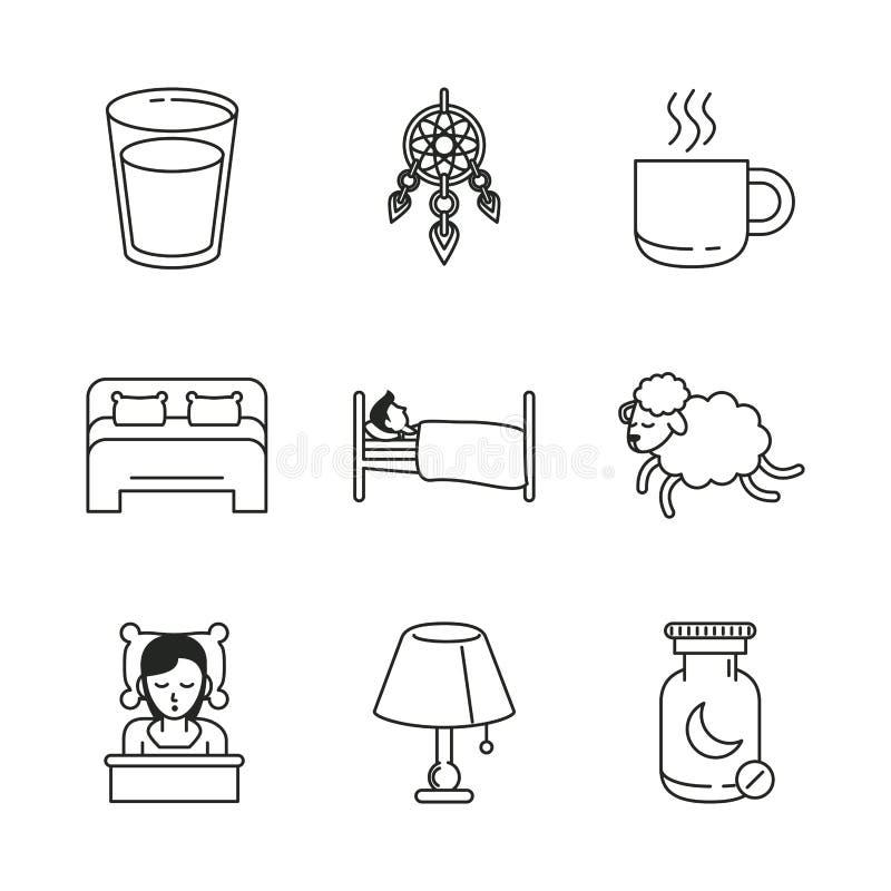 Słodkie sen ikony ilustracji