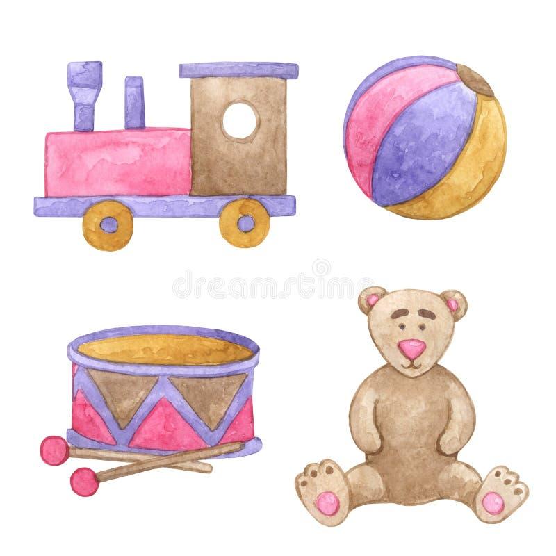 słodkie zabawki ilustracji