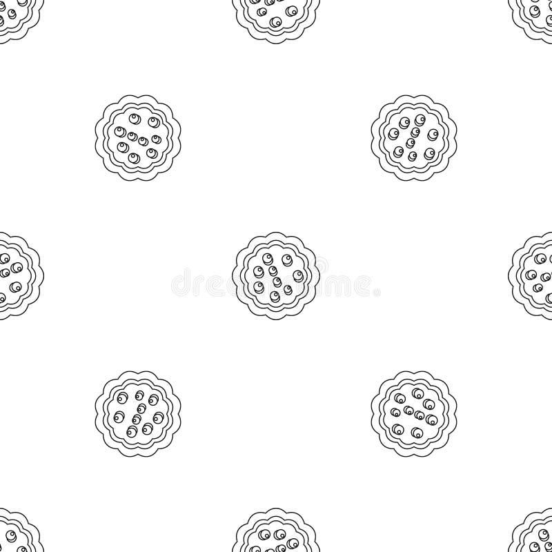 Słodkiego creme biskwitowa ikona, konturu styl ilustracji