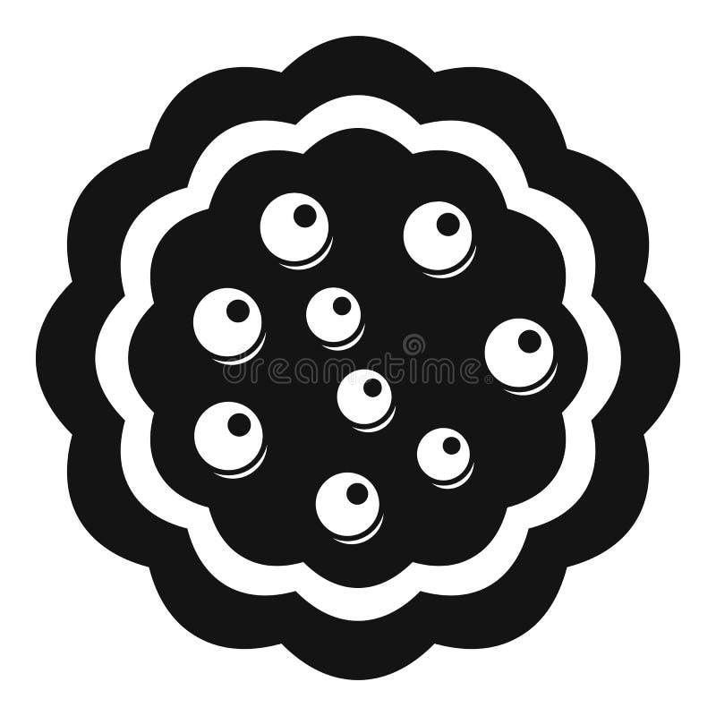 Słodkiego creme biskwitowa ikona, prosty styl ilustracji