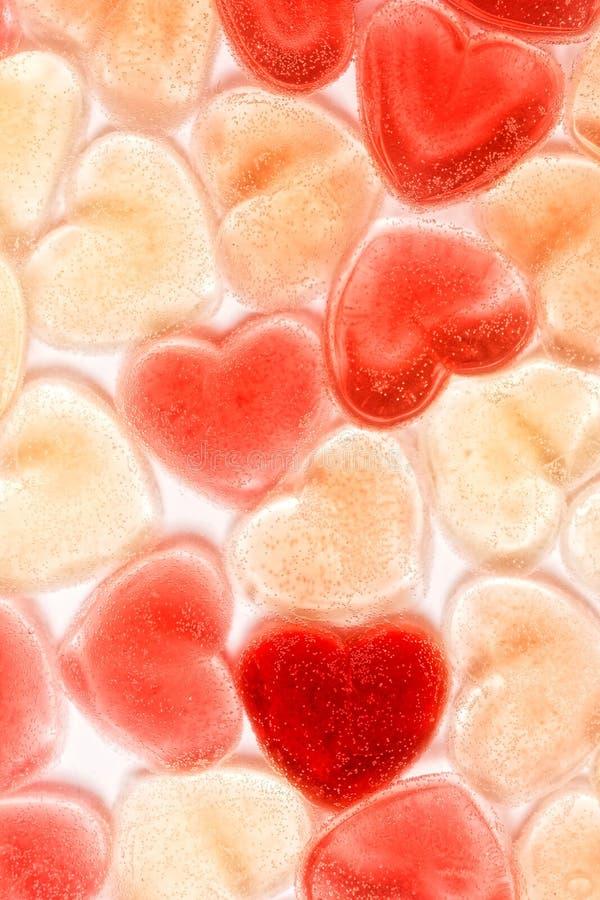 Słodkiej miłości pastelowy tło, walentynki ` s dnia sympatii galareta zdjęcia stock