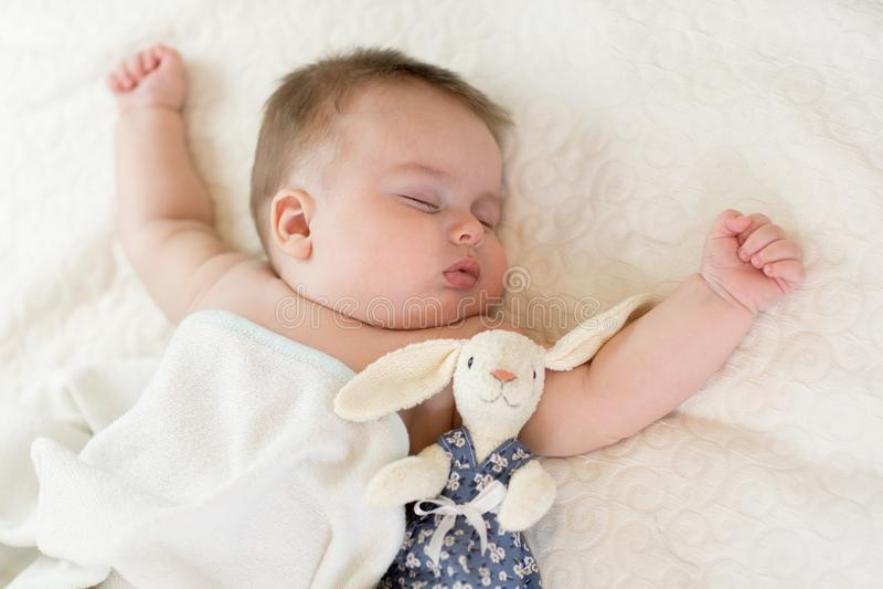 słodko śpi dziecko zdjęcia stock