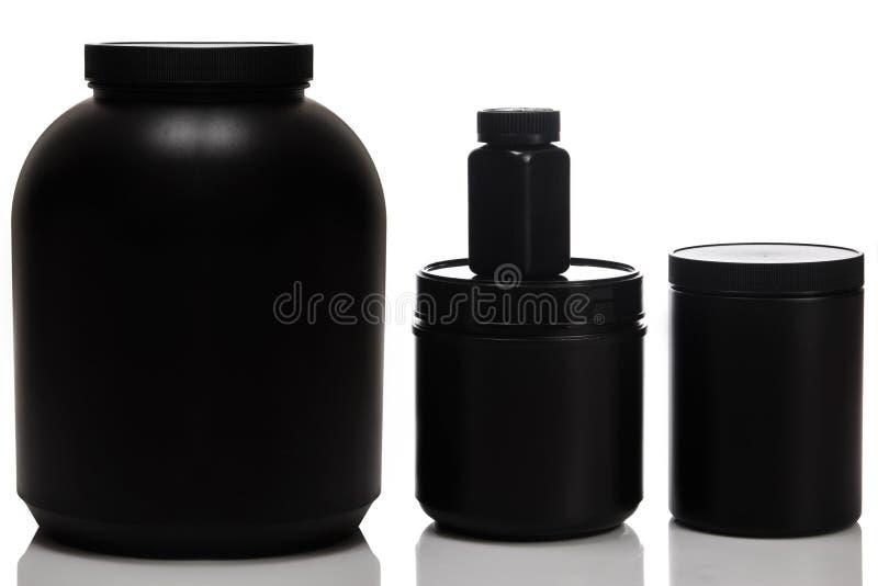 Słoje z karmowymi nadprogramami fotografia stock