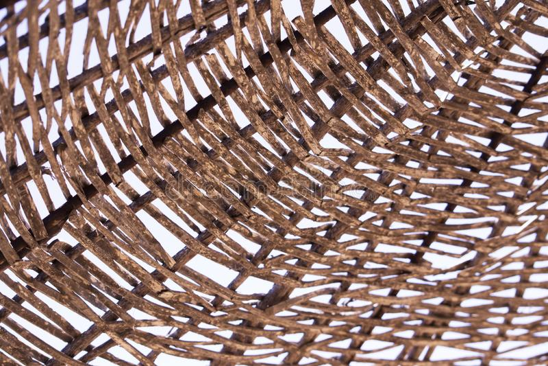 Słomiana parasolowa tekstura obrazy stock