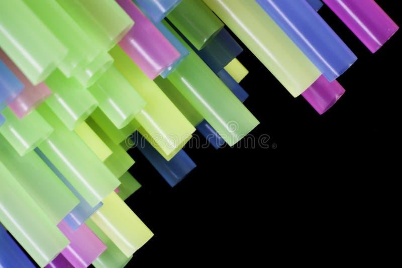 Słomiane końcówki Makro- zdjęcie stock