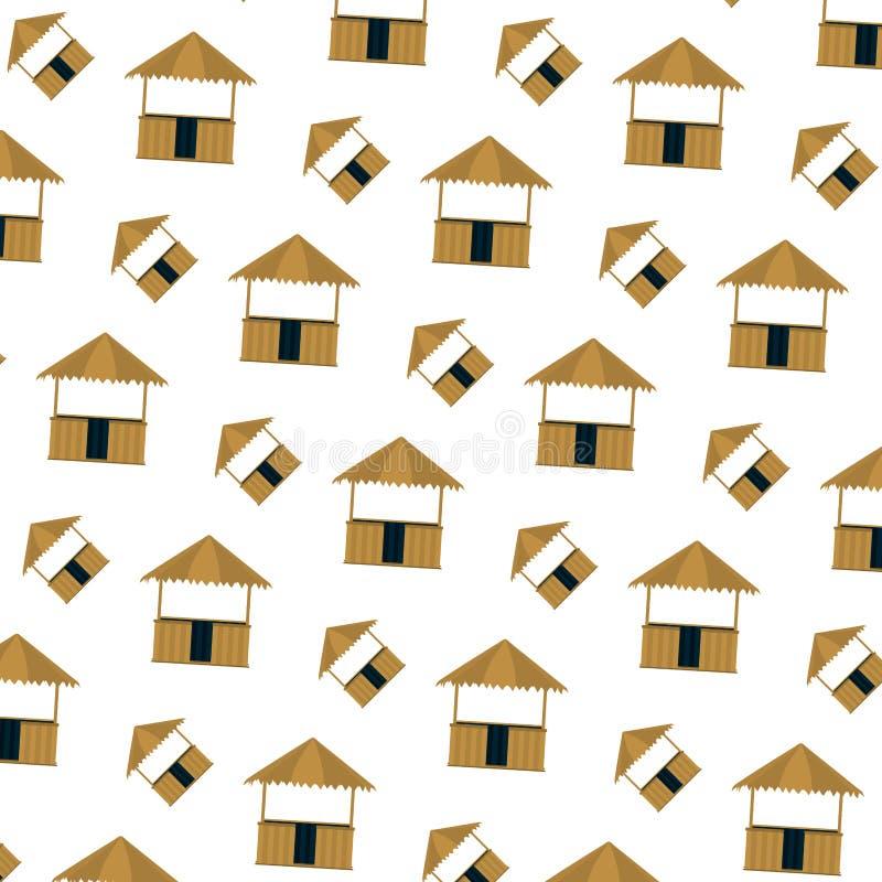 Słomiany budy natury architektury tło ilustracji