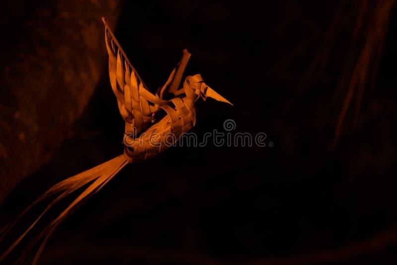Słomiany Ptasi latanie fotografia stock
