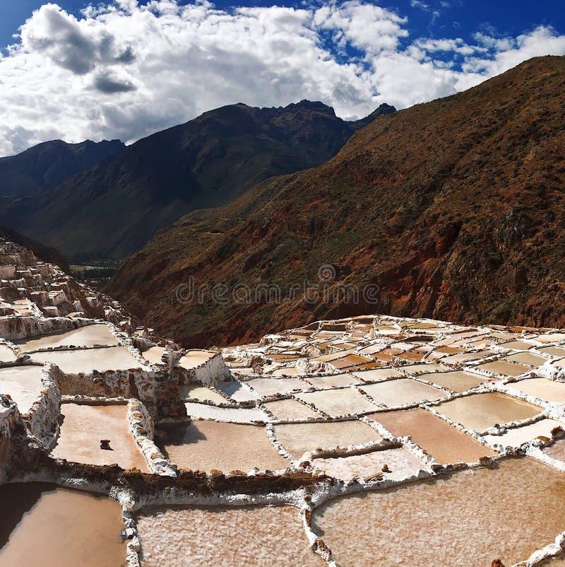 Słone jeziora w Peru zdjęcia stock