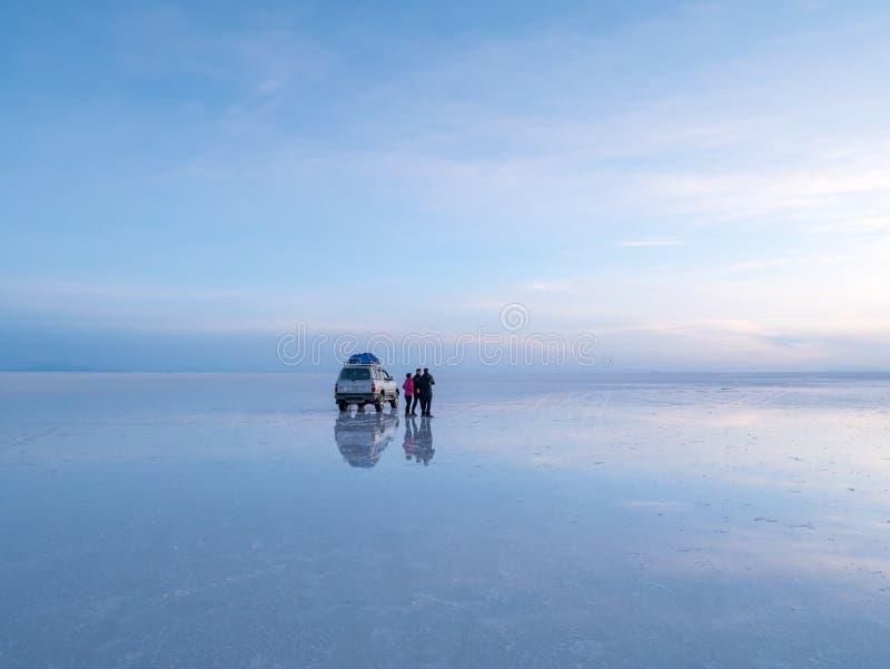 Słone jezioro Uyuni w Boliwia obraz stock