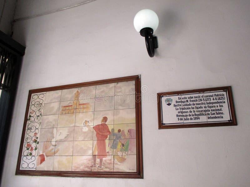 Słoneczna galeria francuz San Telmo zdjęcie stock