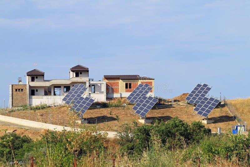 słoneczna wioska obrazy stock